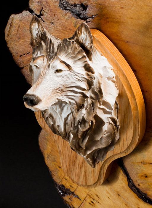 White Wolf Bust